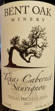 Bent Oak 2017 Texas Cabernet Sauvignon