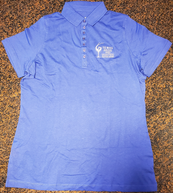 Blue Polo Logo Shirt-3X