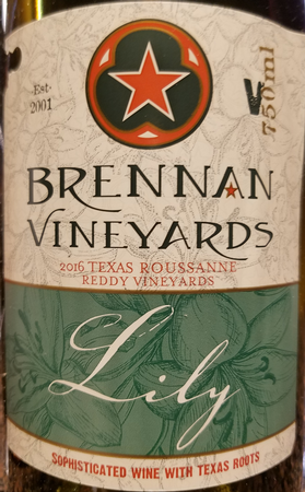 Brennan 2016 Lily Roussanne