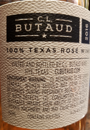 CL Butaud 2016 Mourvedre Rose