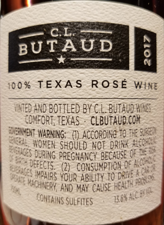 CL Butaud 2017 Mourvedre Rose