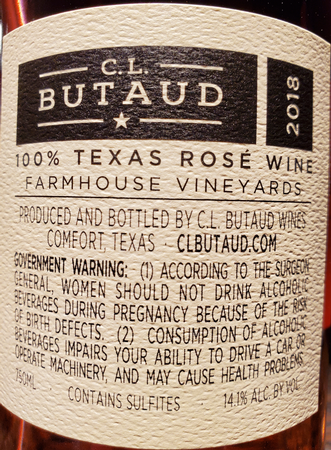 CL Butaud 2018 Mourvedre Rose