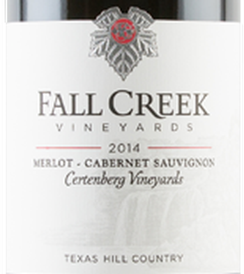 Fall Creek 2014 Terroir Reflection Series Certenberg Merlot Cabernet Sauvignon