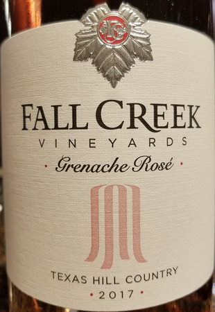 Fall Creek 2017 Grenache Rose Image