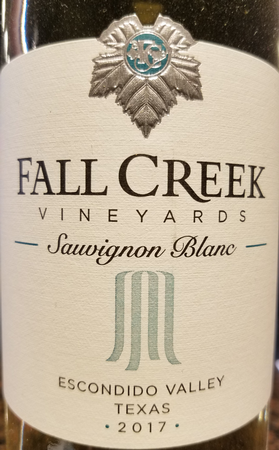 Fall Creek 2017 Sauvignon Blanc