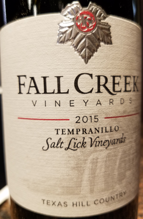 Fall Creek 2015 Tempranillo Image