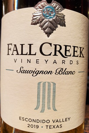 Fall Creek 2019 Sauvignon Blanc
