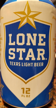 Lone Star Light Beer Can