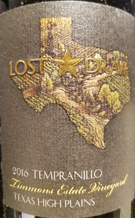Lost Draw 2016 Tempranillo Image