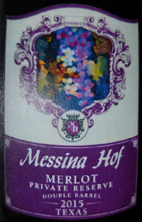 Messina Hof 2015 Merlot Private Reserve