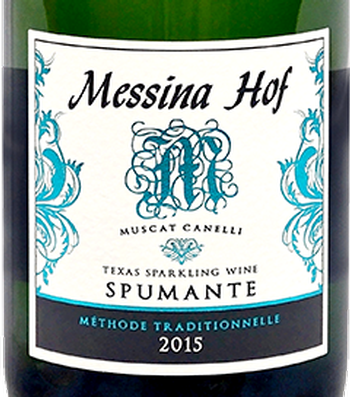 Messina Hof 2015 Muscat Canelli Spumante