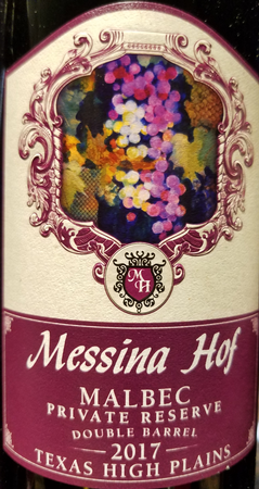 Messina Hof 2017 Malbec Image