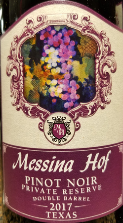 Messina Hof 2017 Pinot Noir