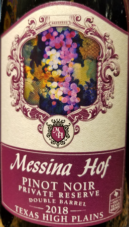 Messina Hof 2018 Pinot Noir