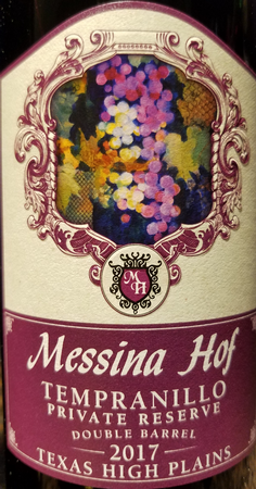 Messina Hof 2017 Tempranillo Image