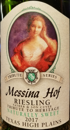 Messina Hof 2017 Father & Son Cuvee Riesling