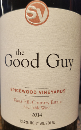 Spicewood 2014 The Good Guy