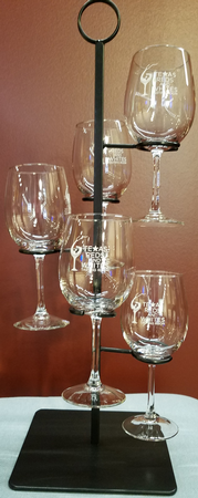 Tasting Caddy with 5 Glasses