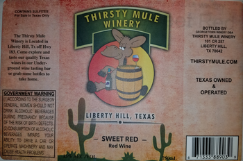 Thirsty Mule Sweet Red Merlot