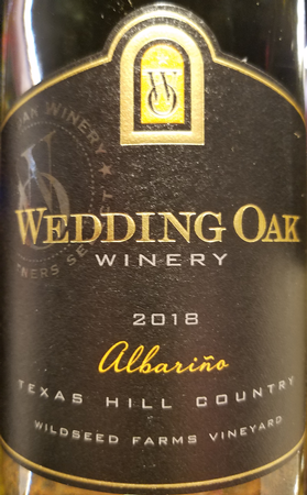 Wedding Oak 2018 Albarino