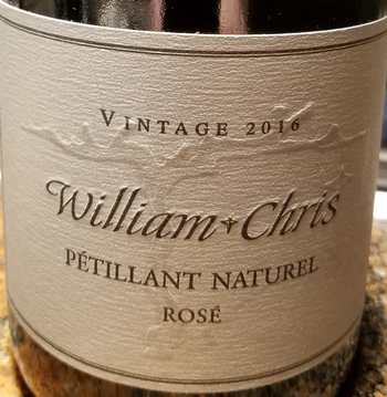 William Chris 2016 Petillant Naturel Rose'