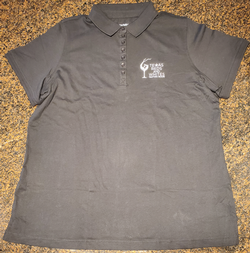 Black Polo Logo Shirt-1X