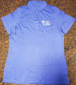Blue Polo Logo Shirt-1X