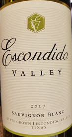 Escondido Valley 2017 Sauvignon Blanc Image