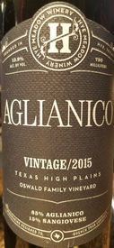 Hye Meadow Aglianico 2015