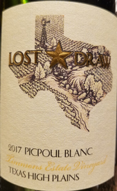 Lost Draw 2017 Picpoul Blanc Image