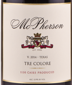 McPherson 2014 Tre Colore Red