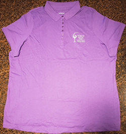 Purple Polo Logo Shirt-1X