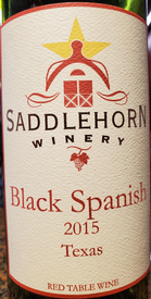 Saddlehorn Black Spanish 2015